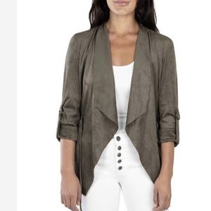 Kut From The Kloth Diane Faux Suede Jacket Buff XS